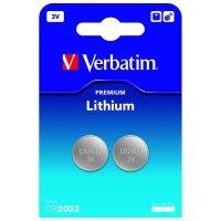 BATERIE VERBATIM. BUTONI CR2032 Lithium 3V 2PK (49936)