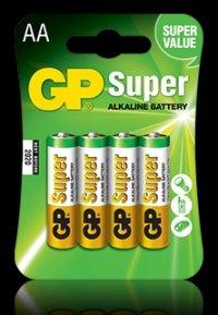 BATERIE 4x AA Alkaline, Blister, GP BATTERIES (GP15A-BL4)
