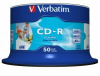 CD-R Verbatim AZO 52X 700MB 50PK SPINDLE WIDE PRINTABLE ID BRANDED (43309)