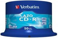 BLANK  CD-R Verbatim  CRYSTAL AZO 52X 700MB  50PK SPINDLE DATALIFEPLUS (43343)