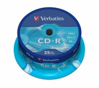 CD-R Verbatim DATALIFE 52X 700MB 25PK SPINDLE EXTRA PROTECTION (43432)