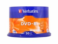 DVD-R Verbatim SL 16X 4.7GB 50PK SPINDLE MATT SILVER (43548)