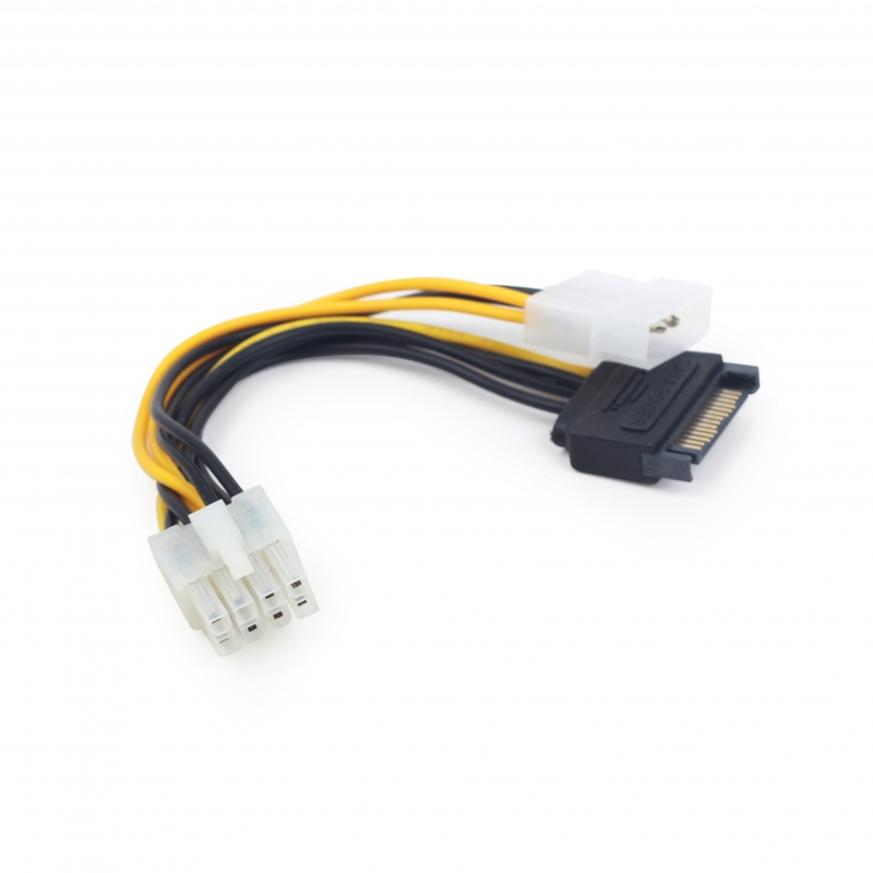Internal power adapter cable for PCI express, 8 pin to Molex x 2 pcs Gembird (CC-PSU-82)