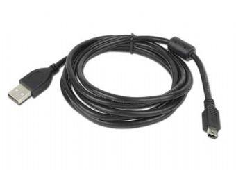 Cablu de date USB tata la mini USB 5PM tata, lungime cablu: 1.8m, bulk, Alb, GEMBIRD (CCF-USB2-AM5P-6)