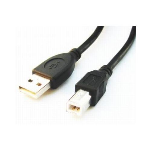 Cablu de date USB2.0 A tata la USB B tata, calitate premium, conectori auriti si miez ferita, lungime cablu: 1.8m, bulk, Negru, GEMBIRD (CCP-USB2-AMBM-6)