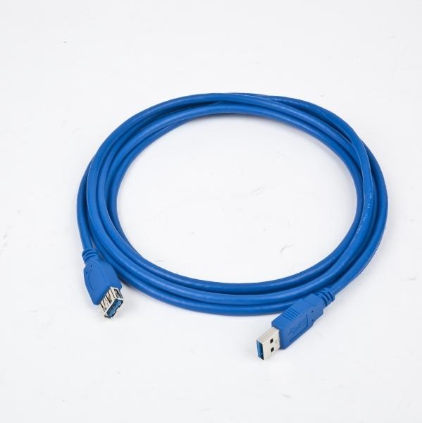 Cablu de date prelungitor USB3.0 A tata la USB A mama, conectori auriti, lungime cablu: 1.8m, bulk, Albastru, GEMBIRD (CCP-USB3-AMAF-6)