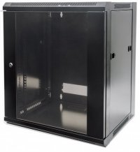Cabinet 19'  fixare pe perete, Flatpack, Intellinet12U, Black, 635 (h) x 570 (w) x 600 (d) mm (711883)