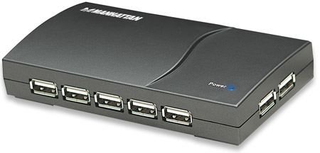 Hub SuperSpeed USB 2.0 13port Manhattan AC Power