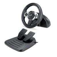 Volan Genius Trio Racer F1 Racing Wheel, D-Pad, 11 butoane, PC, PS3, Wii