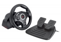 Volan Trust GXT 27 Force Vibration Steering Wheel, pentru  PC, Sony PlayStation 2 and Sony PlayStation 3