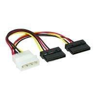 Cablu Alimentare intern 1*5 1/4' to 2* SATA 15cm