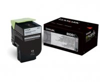 Toner Original pentru Lexmark Negru, compatibil CX310/410/510, 2500pag (80C0S10)