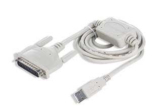 Cablu de date convertor USB la Serial DB25M, lungime cablu: 1.8m, bulk, Alb, GEMBIRD (UAS112)