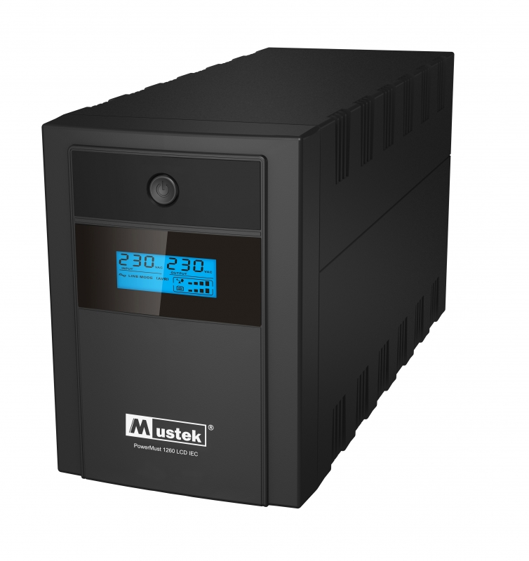 UPS  MUSTEK PowerMust 1260 LCD (1200VA) Line Interactive, IEC (98-LIC-C1060)