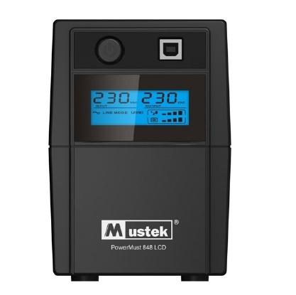 UPS  MUSTEK PowerMust  848 LCD (850VA) Line Interactive, Schuko (98-LIC-L0848)