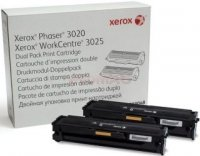 Toner Original Xerox 106R03048 Black Dual Pack compatibil Phaser 3020, Workcentre 3025, 2x1500pag