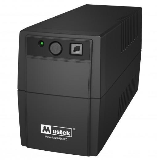 UPS  MUSTEK PowerMust  636 (650VA) Line Interactive, IEC (98-LIC-N0636)