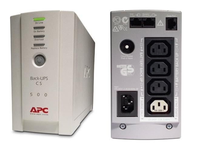 UPS  APC Back-UPS CS 500VA  (BK500EI)