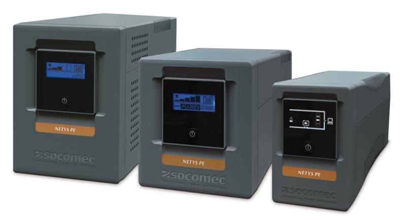 UPS SOCOMEC Netys PE 850VA (NPE-0850), line interactive de 850VA si 480W, backup 20min, protectii: suprasarcina, descarcare, scurtcircuit, cu baterie din plumb si acid liber intretinut sigilate, tensiune iesire: 230V +/-10%, 50/60Hz, Negru