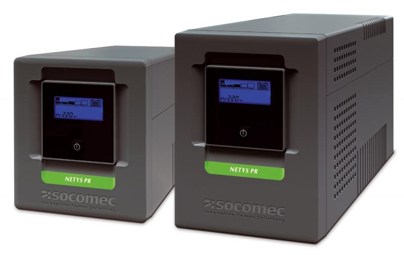 UPS SOCOMEC Netys PR MT 1000VA (NPR-1000-MT), line interactive de 1000VA si 700W, backup 45min, protectii: suprasarcina, descarcare, scurtcircuit, cu semnal sinusoidal si display LCD, baterie din plumb si acid liber intretinut sigilate, Negru