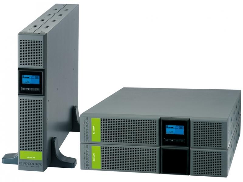 UPS SOCOMEC Netys PR RT 3300VA (NPR-3300-RT), line interactive de 3300VA si 2700W, backup 6min, protectii: suprasarcina, scurtcircuit, cu baterie din plumb, tensiune iesire: 230V +/-5%, 50/60Hz, semnal sinusoidal si rack mount, Negru