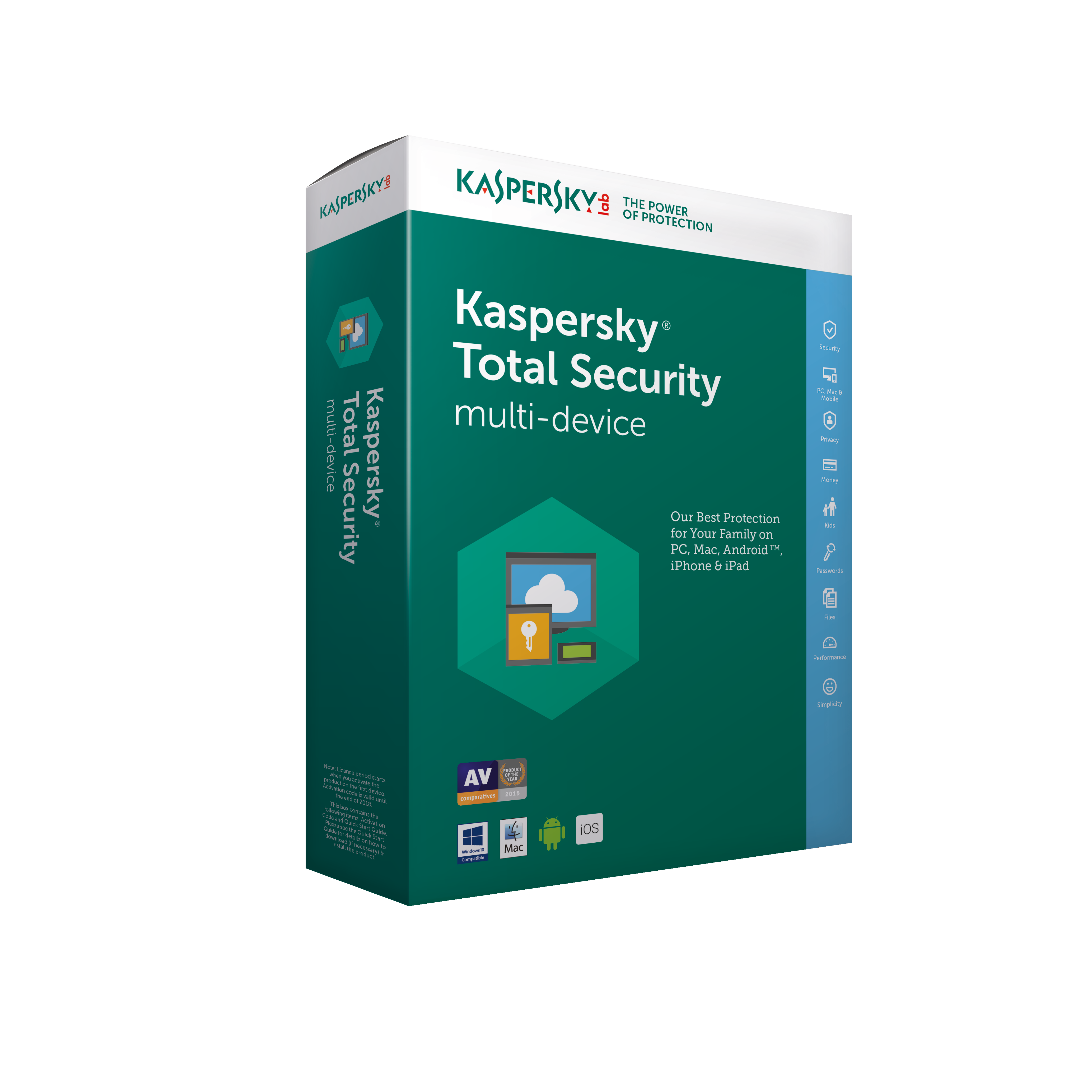Kaspersky Total Security - Multi-Device European Edition. 4-Device 2 year Renewal License Pack
