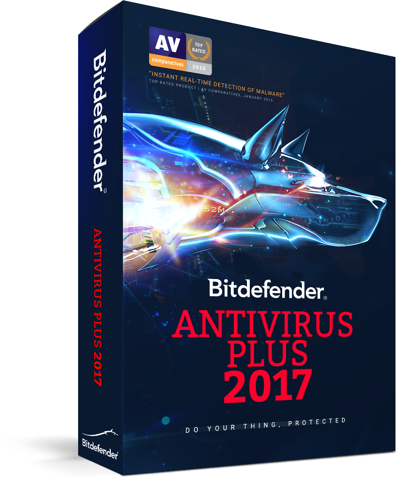 Bitdefender Antivirus Plus 2017, 1PC, 1 year, BOX Licenta noua