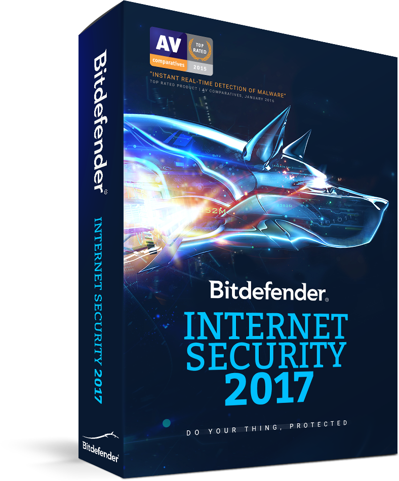 Bitdefender Internet Security 2017,3 PCs, 1 year, BOX new Licenta noua