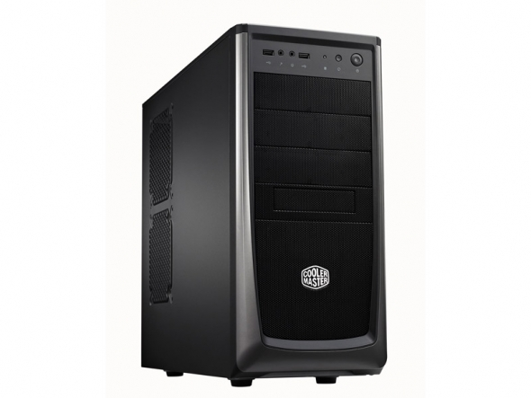 CARCASA COOLER MASTER  Elite 372, mid-tower, ATX, 1x 120mm fan (inclus), I/O panel, Black (RC-372-KKN1)