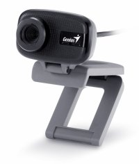 Camera Web cu microfon GENIUS FaceCam 321 (32200015100), USB 2.0, senzor CMOS 0.3MP, rezolutie video 0.3MP si foto: 8MP interpolati, clema de prindere monitor sau birou, culoare: negru-gri