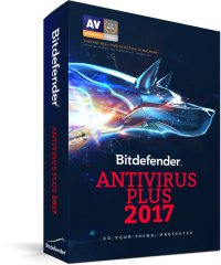 Bitdefender Antivirus Plus 2017, 3 PCs, 1 year, BOX new Licenta noua