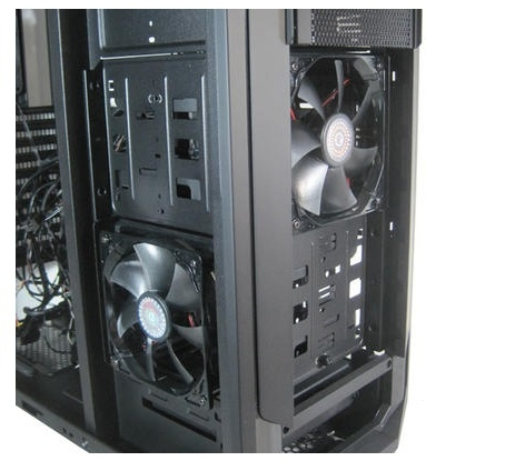 CARCASA CM STORM Trooper, full-tower, XL-ATX, 2* 120mm red LED fan & 1* 200mm fan & 1* 140mm (inclus), I/O panel, black (SGC-5000-KKN1)
