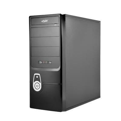 Carcasa ATX midi Tower cu sursa 420W, bays: 4xCD-ROM si 6xHDD, ventilator lateral 80mm si spate 80-90mm optional, conectori frontali 4x USB2.0, 1xCasti si 1xMicrofon, culoare: negru, SPIRE Coolbox 503 (SPD503B-420W-E1)