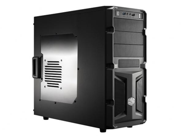 CARCASA COOLER MASTER  K350, mid-tower, ATX, 1* 120mm fan (inclus), I/O panel, side window, black (RC-K350-KWN2-EN)