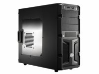 CARCASA COOLER MASTER  K350, mid-tower, ATX, 1* 120mm fan (inclus), I/O panel, side window, black (RC-K350-KWN2-EN)