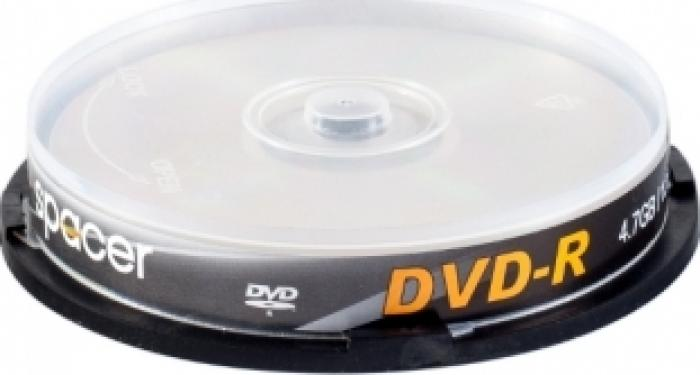 DVDR 4.7GB 120Min 16x Spacer 10 buc set