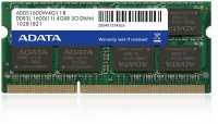 Adata SODIMM 4GB DDR3 1600MHz, Low voltage 1.35V (ADDS1600W4G11-B)