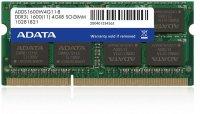 Adata SODIMM 4GB DDR3 1600MHz, Low voltage 1.35V (ADDS1600W4G11-B)