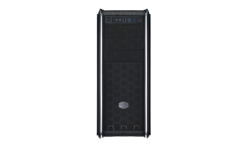 CARCASA COOLER MASTER. CM 590 III, window version, mid-tower, ATX, 2* 120mm BLUE LED fan (incluse), I/O panel, black (RC-593-KWN2)