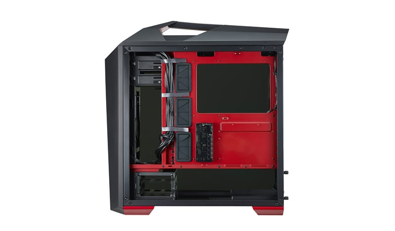 CARCASA COOLER MASTER. MasterCase. Maker 5t, *tempered glass*, mid-tower, ATX, 3* 140mm fan (inclus), I/O panel, fan controller, LED strip, black (MCZ-C5M2T-RW5N)