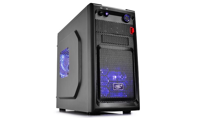 CARCASA DEEPCOOL  mATX Mini-Tower, 2* 120mm LED fan (inclus), front audio & 1x USB 3.0, 1x USB 2.0, black (SMARTER LED)