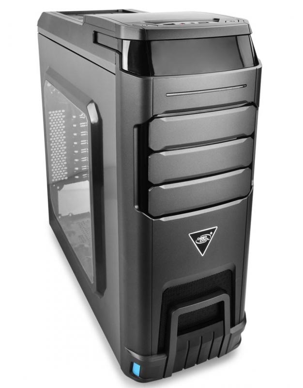 CARCASA DEEPCOOL ATX Mid-Tower, 1* 120mm  LED fan & 3* 120mm fan (incluse), side window, fan controller, front audio & 2x USB 3.0, 2x USB 2.0, steel gray (LANDKING v2)