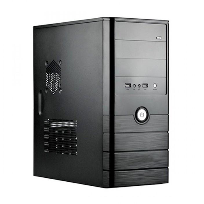 CARCASA SPIRE ATX, front USB & audio, suport 2x 80mm fan, black, fara sursa (SP1071B)