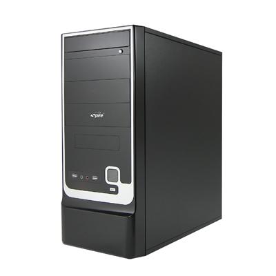 Carcasa ATX midi Tower cu sursa 420W, bays: 1xFDD, 4xCD-ROM, 5xHDD, ventilator lateral 80mm si spate 80-90mm optional, conectori frontali 2x USB2.0, 1x Casti si 1x Microfon, culoare: negru, SPIRE (SPD305B-420W-E1)