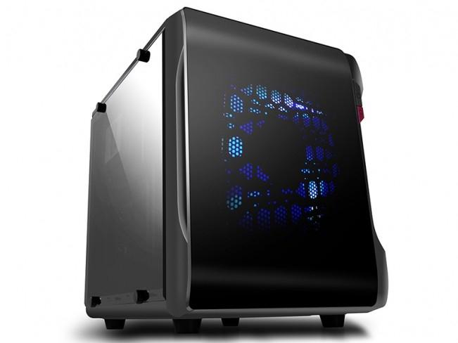 CARCASA SPIRE mATX, front USB 3.0 & audio, 2 ferestre laterale, black, fara sursa (SPC715B-CE/R/2W-U3)