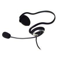 Casti cu microfon flexibil A4TECH (HS-5P), design sport cu fir de 2m, frecventa 20Hz - 20kHz, sensibilitate 97dB, cu jack de 3.5mm si control volum pe fir, culoare: negru