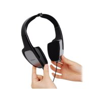 Casti cu microfon A4TECH HS-105 clasice cu fir de 2m, jack 3.5mm, sensibiliate 94dB±3dB, design pliabil
