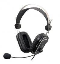 Casti cu microfon A4TECH (HS-50) Comfortfit, profesionale cu fir, frecventa 20Hz - 20kHz, sensibilitate 97dB, cu jack de 3.5mm si design quadrate-ear-cushion, culoare: negru
