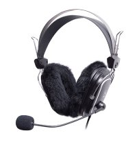 Casti cu microfon A4TECH (HS-60) Comfortfit, profesionale cu fir de 2m, frecventa 20Hz - 20kHz, sensibilitate 97dB, cu jack de 3.5mm si pernute de protectie, culoare: negru