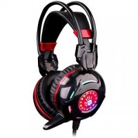 Bloody Combat Gaming Headset,Black+Red (G300)